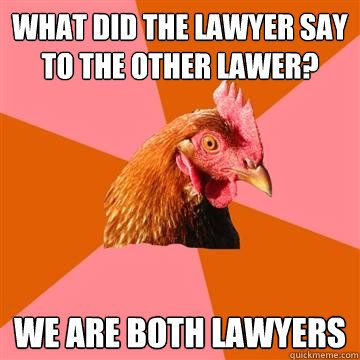 I love the anti-joke chicken meme. This one is for @daniellina.....
