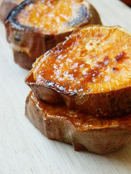 Roasted sweet Potatoes - look at the caramelization!