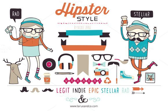 Hipster Style (Vector) - Illustrations - 1