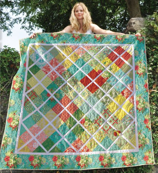 4 Charm Packs or 1 layer cake - size 64x64 http://www.craftsy.com/blog/2013/07/eight-charm-pack-quilts-to-bust-your-stash/ other nice tutorials too