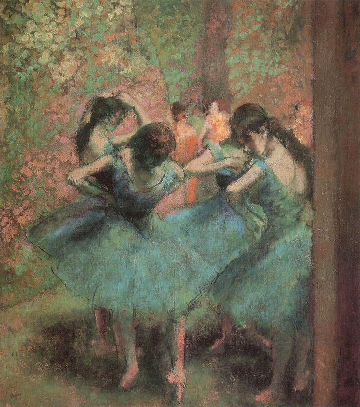 degas pastel paintings | Edgar Degas – Blue Dancers (c ...