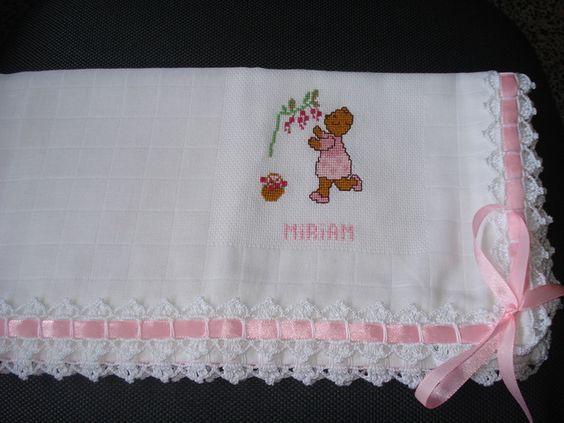 Resultado de imagem para graficos de bicos de croche para fraldas de bebe