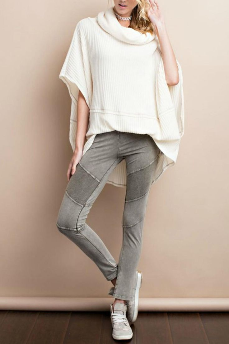 Versatile and comfortable....olive moto leggings a necessary addition to any wardrobe.  Pair with tunics or longer tees...a great look with booties or knee boots.      Model is wearing a Small Moto Leggings by easel. Clothing - Activewear - Leggings Kansas