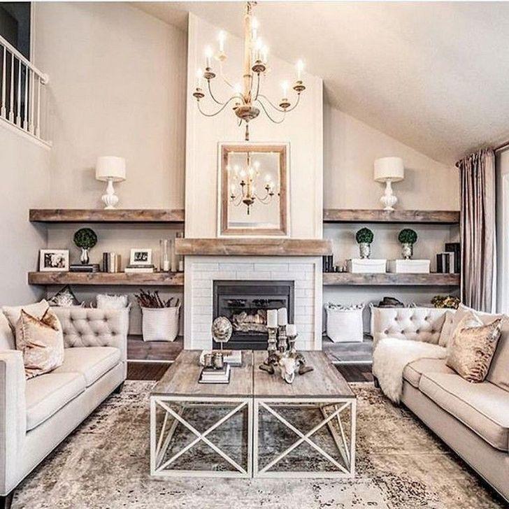 99 Splendid Farmhouse Living Room Design Decor Ideas