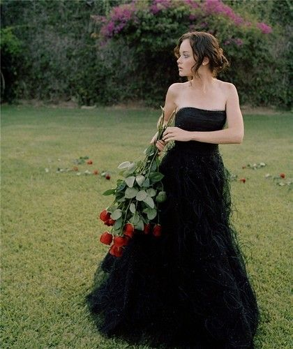 .Black Wedding Dress.