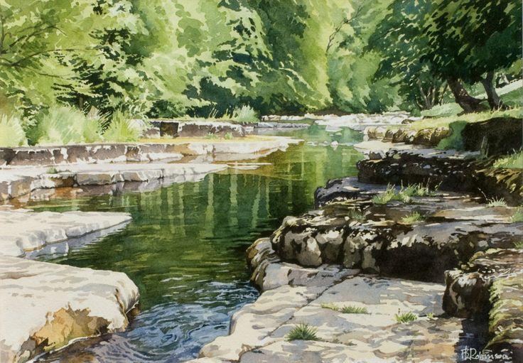 "The River Cover - watercolour 12"" x 17"" [Brian Robinson - Herts Visual Arts]"