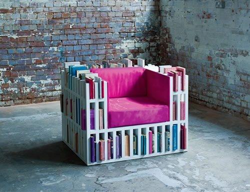 кресло с книжными полками