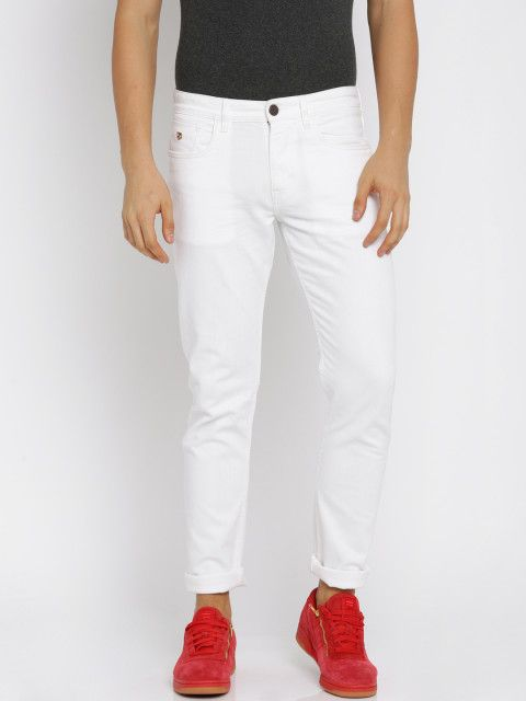 b4dd657266 Buy U.S. Polo Assn. Denim Co. Men White Slim Fit Mid Rise Clean Look  Stretchable Jeans - Jeans for Men 2200590