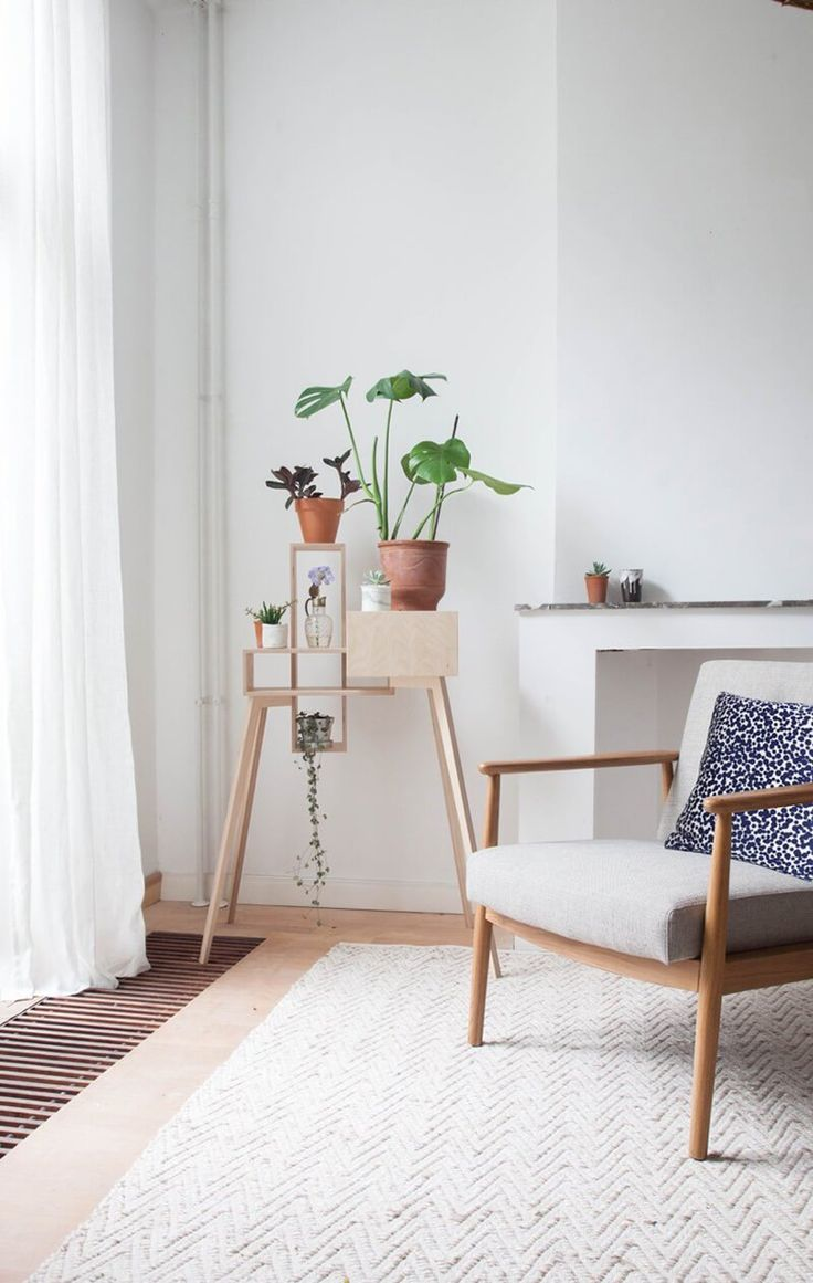 Minimal decor with plants. Looks like a very calm and soothing space.