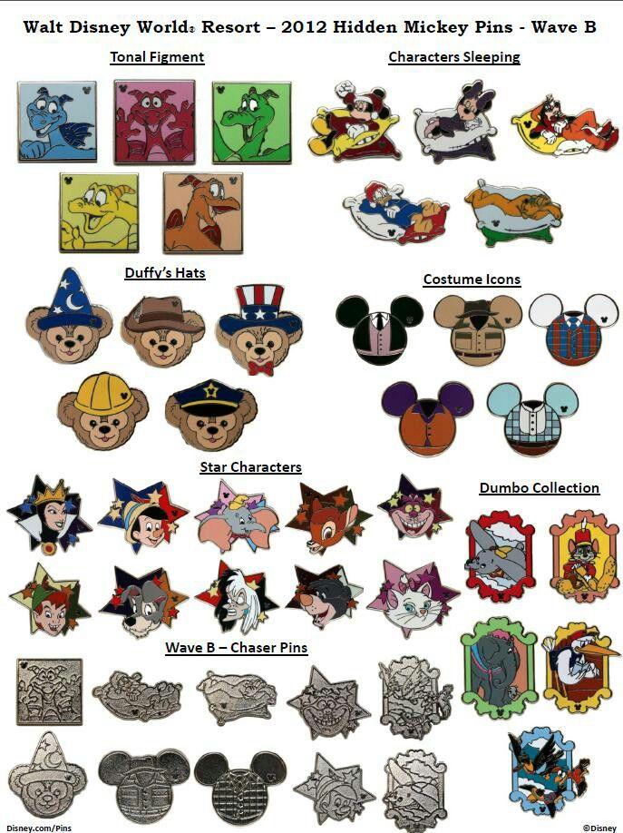 Hidden Mickey Pins 2012 Wave B