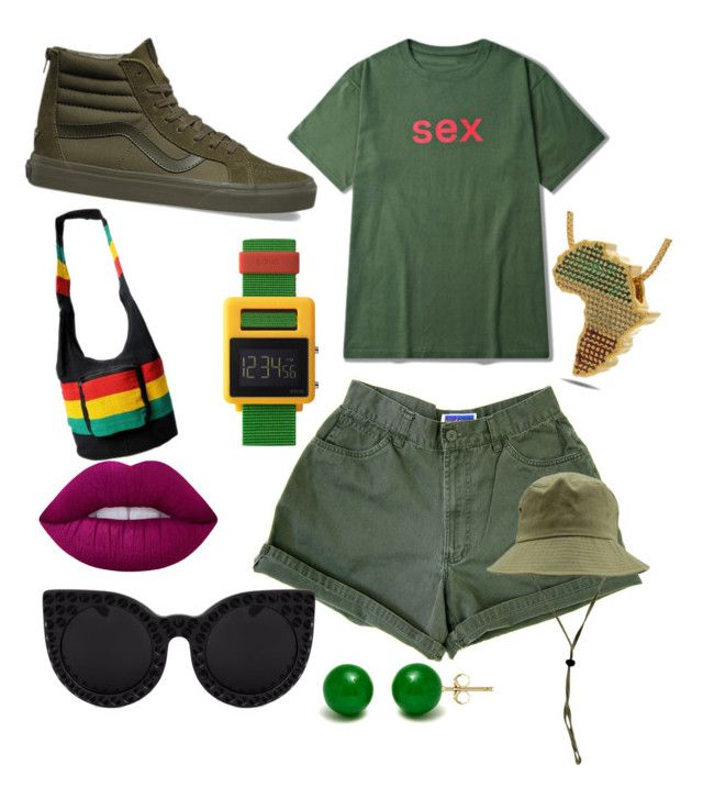 """""""❤💚💛"""" by boipelo-johny on Polyvore featuring Vans, Void, King Ice, Lime Crime and Pori"""