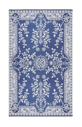 Beautiful, simply just beautiul Mad Mats Oriental Garland Blue and White Rug