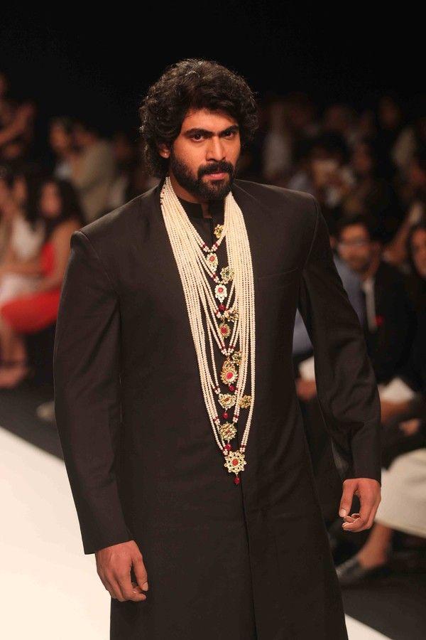 Rana Daggubati walks the ramp of the Indian International Jewellery