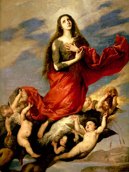 Mary Magdalene  #RED WHORE MARY MAGDALENA  Mary Magdalena was a known prostitute who tried to seduce Jesus Christ.  She's a reviled whore.