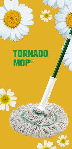 With a larger mop head you can cover 50% more surface area to get the job done faster and done right. The 3 green bands prevent tangling while polyester yarn resists odor causing bacteria making it the ideal mop for any surface.