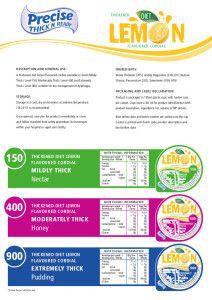 Diet Lemon and Diet Raspberry Spec Sheets