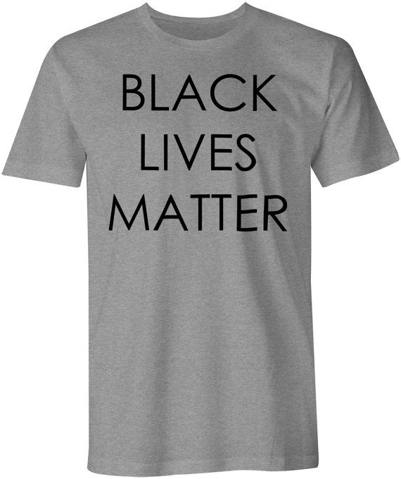 Black Lives Matter T-Shirt  Slogan Tee  Racial Equality