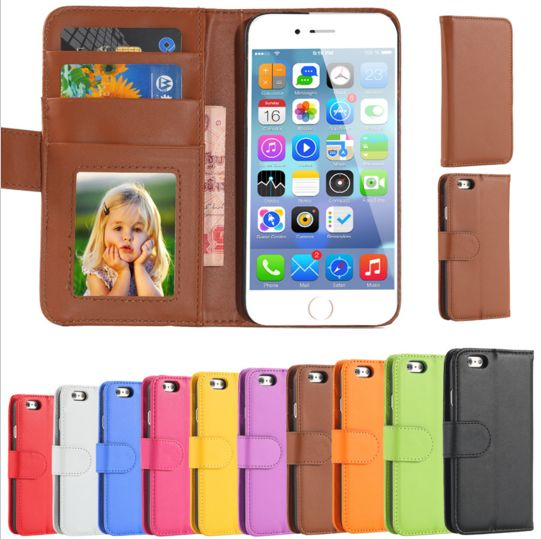 iPhone Wallet Leather Flip Case for Apple iPhone 6/6S 6/6S Plus With Card Slot and Stand.  Features:  100% New Brand. Made of PC PP Bag Package. Perfect fit for your phone. Protect your cellphone from damage scratches, shocks, accidental drops and collision. Easy access to control ports, cameras & buttons. Not required tool for installation,just snap on the phone Please choose your favorite color. Dirt-resistant Photo frame Wallet Flip Stand Card Holders Package include: 1xCase(Only one…