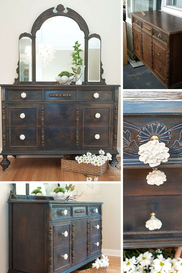 Love ThisVintage Dresser Restyle Before U0026 After!