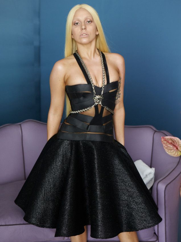 Lady Gaga for Versace, Without Photoshop..... I don't know why People always attack her, she's odd but not the kind of odd that hurts people. I think she's just fine