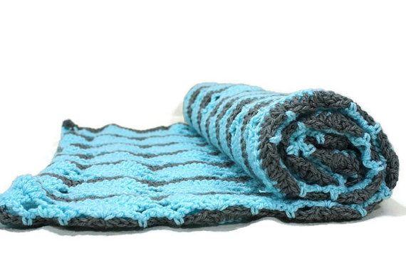 Crocheted Baby Blanket Newborn Photo Prop by MaryElizabethDesigns