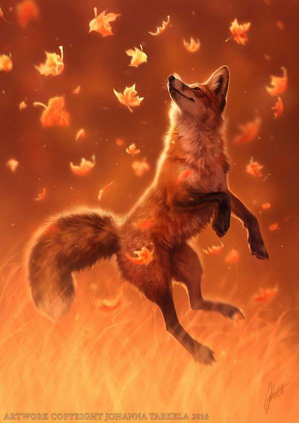 Art by Lhuin. Лисы. [DeviantArt] арт, лиса, лисички, кицуне, Животные, DeviantArt, длиннопост