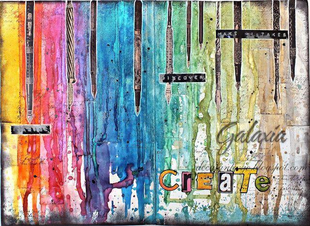 DecuFantazje Galaxii: Tęczowy Art Journal