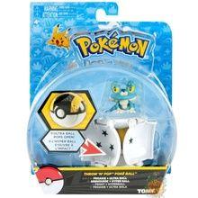 Pokemon Toy Throw 'N' Pop Pokeball with Figure - Froakie & Ultra Ball