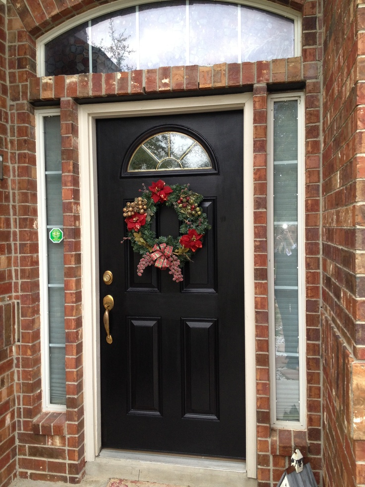 14 best images about black interior doors on pinterest for Best way to paint front door