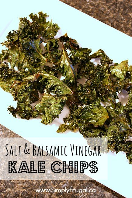 You've got to try these deliciously crunchy Salt and Balsamic Vinegar Kale Chips!