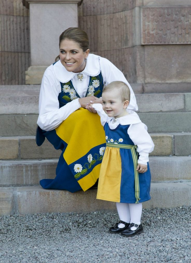 Princesses Madeleine and Estelle: Aunt and niece celebrating Sweden's National Day in Stockholm, June 6 2013.
