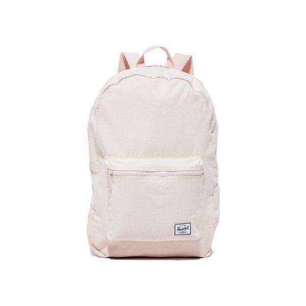 Herschel Supply Co. Daypack Backpack (£32) ❤ liked on Polyvore featuring bags, backpacks, cloud pink, lightweight bags, rucksack bags, light weight backpack, canvas rucksack and lightweight backpack