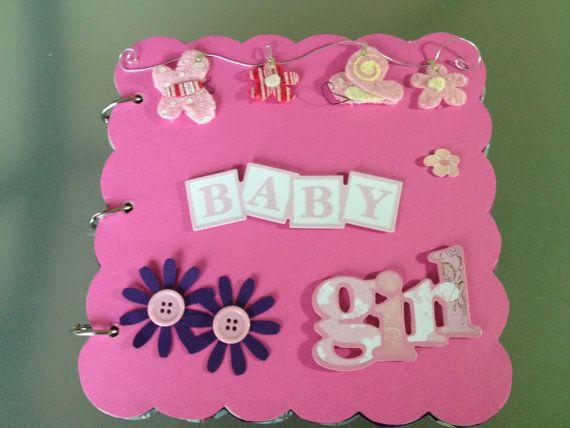 Baby Girl Chipboard Handmade Scrapbook Album by ScrappingSunflower, $25.00