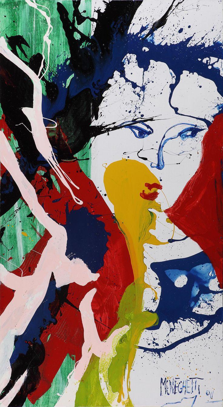 "Antonio Meneghetti / ""Donna"" / 2011 / 180x100 cm / nitro&acrylic on canvas #woman, #art, #onto, #painting, #Meneghetti"