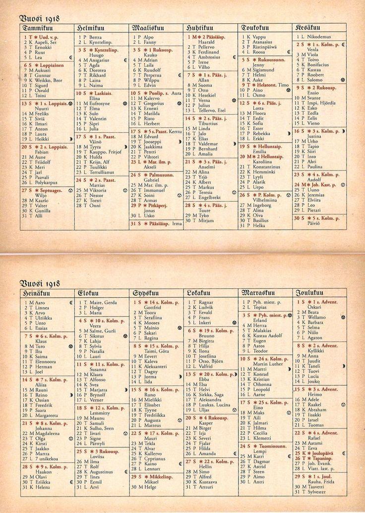 Nimipäiväkalenteri 1918: Olisitko Polykarpus, Kauppo, Oihonna tai Gurli? | Kodin Kuvalehti