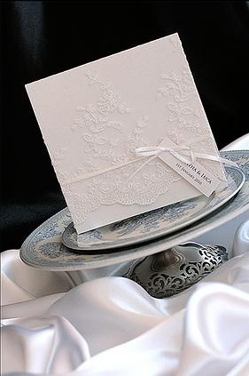 Beautiful lace invitation