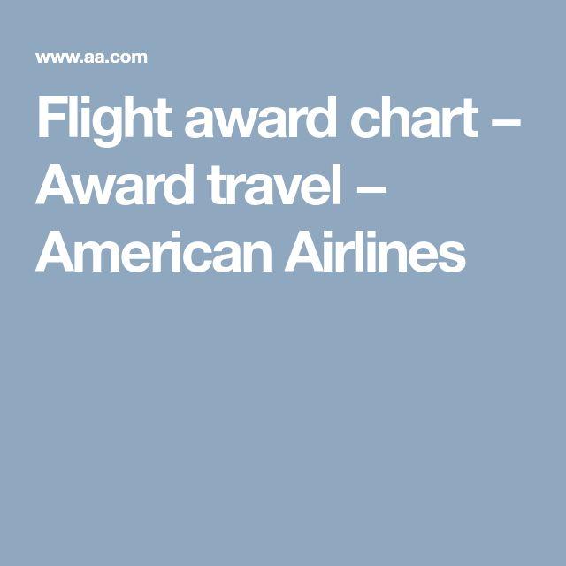 Flight award chart  − Award travel − American Airlines