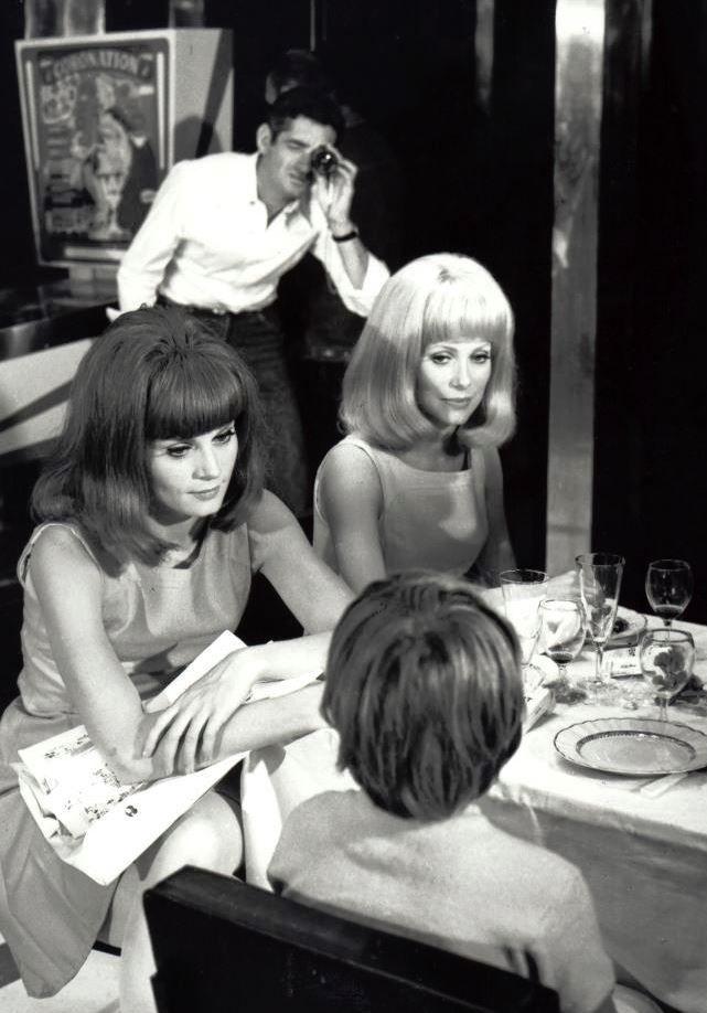 Catherine Deneuve on the set of Les demoiselles de Rochefort (1967)