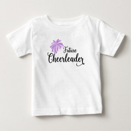 Future Cheerleader kids tee - baby gifts child new born gift idea diy cyo special unique design