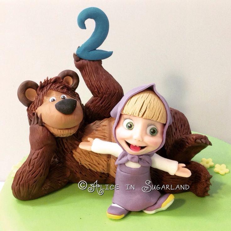 Masha and Bear cake topper