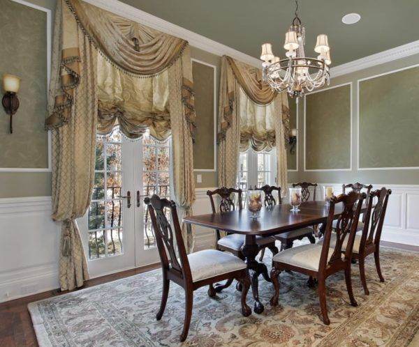 Valance Ideas For French Doors And 3 Tips To Follow Victorian Home Decor Dining Room Victorian Elegant Dining Room