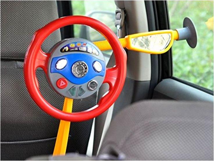 Kids Backseat Steering Wheel Toy Electronic Driver Car Game Toddler Children NEW #LittleDrivers