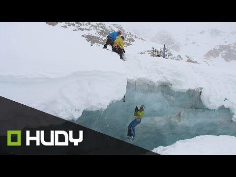 Nácvik záchrany z ledovcové trhliny
