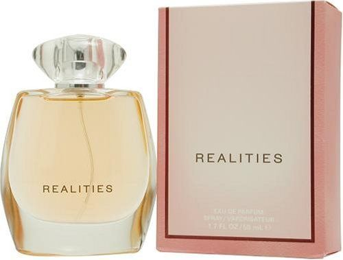 Realities (new) By Realities Cosmetics For Women. Eau De Parfum Spray 3.4 Ounces by Realities. $75.00. This item is not for sale in Catalina Island. Packaging for this product may vary from that shown in the image above. Introduced in 2004.When applying any fragrance please consider that there are several factors which can affect the natural smell of your skin and, in turn, the way a scent smells on you.  For instance, your mood, stress level, age, body chemistry, diet, and...