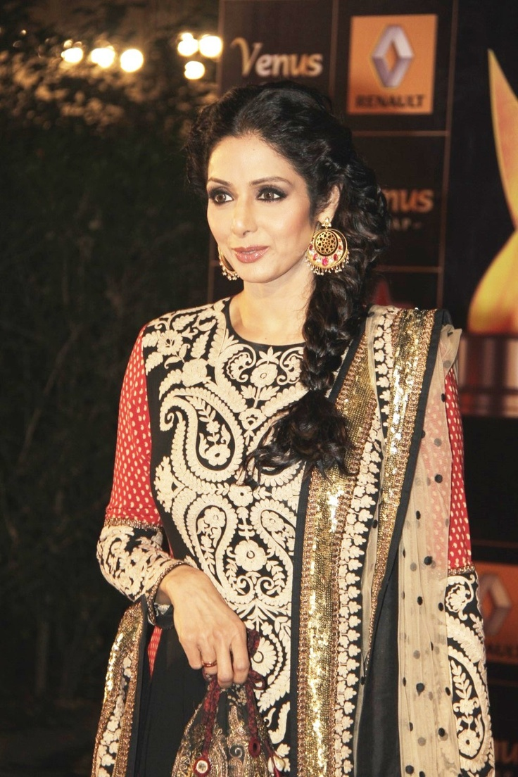 Sridevi at The Renault Star Guild Awards 2013.