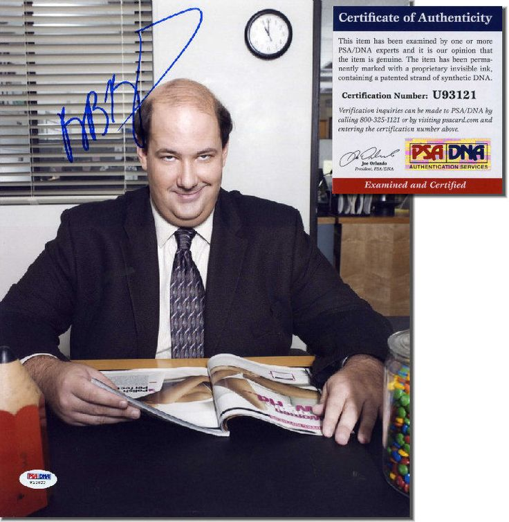BRIAN BAUMGARTNER Hand Signed 11x14 - THE OFFICE - PSA/DNA - UACC RD#289 in Collectibles, Autographs, Television | eBay