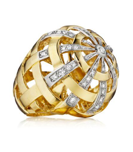 Faraone Mennella: 18Kt yellow gold and diamond ring