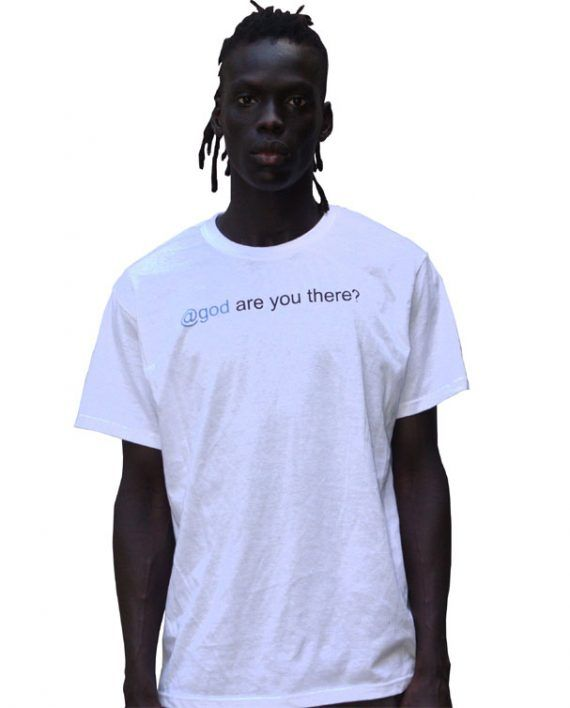 @GOD ARE YOU THERE? printed on high quality white cotton tee.All sizes available.