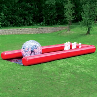 The Human Bowling Ball - Another one that would be tons of fun (again not at $4500). I wonder if anyone rents this...