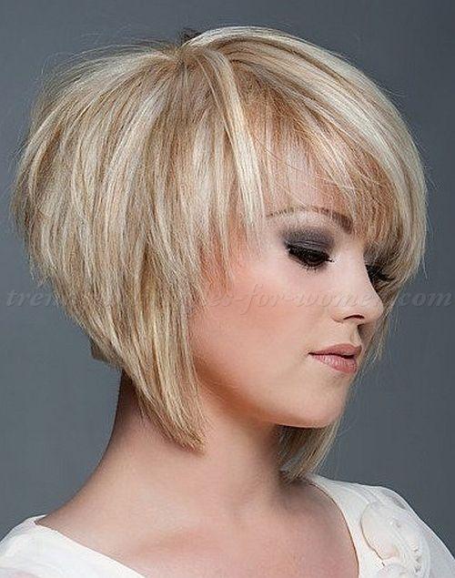 layered haircuts for short hair with bangs